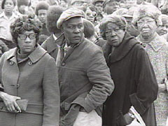 Supporters of the Civil Rights movement
